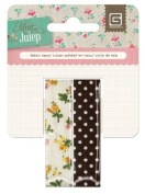 Mint Julep Fabric Tape 6.5 Feet Per Roll 2/Pkg-