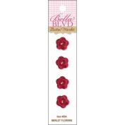 Button Market Buttons-Merlot Flowers