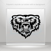 Stickers Decals Grizzly Power Bear Head car helmet window bike Garage door 0502 W9579