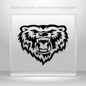 Stickers Decals Grizzly Power Bear Head car helmet window bike Garage door 0502 W9579