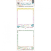 Pink Paislee Colour Wash Ombre Frame Clusters Embellishments