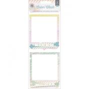 Colour Wash Cluster Frames 2/Pkg-3-D Stacked Cardstock W/7.6cm x 7.6cm Opening