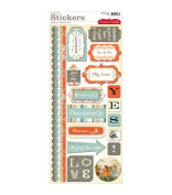 Cosmo Cricket Cardstock Stickers - Everafter