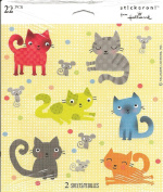 Cute Cats and Mice Scrapbook Stickers