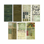 Crowded Attic Salvage Stickers by Tim Holtz Idea-ology, 372 Stickers, Paper, Multicoloured, TH92898