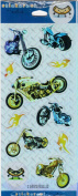 Chopper Motorcycle Foil Scrapbook Stickers