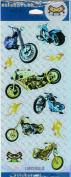 Chopper Motorcycle Foil Scrapbook Stickers