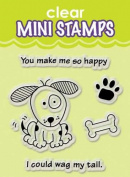 Inkadinkado Clear Mini Stamps, Wag My Tail