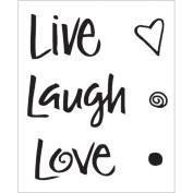 Technique Tuesday Clear Stamps 5.1cm x 6.4cm -Live Laugh Love