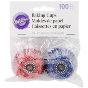 Baking Cups-Bandana Print 100/Pkg-Mini
