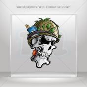 Sticker Decals Skull Soldier Vietnam Veteran car helmet window bike Garage door 0500 RSX68
