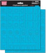 Chipboard Alphabet 20cm by 20cm Sheets, 2/Pkg, Tropical Rain