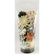 Printery Essentials II Paper Flowers 3.2cm - 5.1cm 65/Tube-