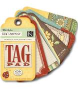 K & Company Tag Pad - Wild Saffron