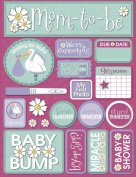 Reminisce Signature Series 3-Dimensional Sticker, Pregnancy