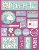 Reminisce Signature Series 3-Dimensional Sticker, Pregnancy