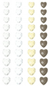 Say It In Crystals Adhesive Jewels 2.25 X3.5 Sheet-Heart