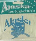 Alaska Laser Scrapbooking Craft Die Cut Alaska State Map
