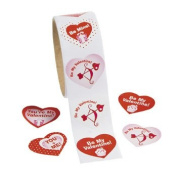 Be My Valentine! Roll Stickers - Stationery & Stickers
