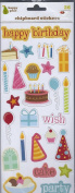 HAPPY PEAR CHIPBOARD STICKERS- BIRTHDAY ICONS #1886
