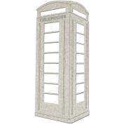 Die-Cut Grey Chipboard Embellishments-Telephone Booth 2/Pkg, To 13cm x 6.1cm