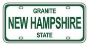 Mini Licence Plate - New Hampshire