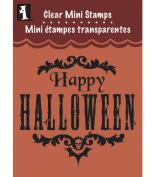 Inkadinkado Clear Mini Stamps, Happy Halloween