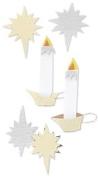 Church Candle Scrapbook Stickers