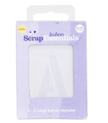 Scrap Essentials Alpha Rub-on White