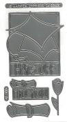 Graduation Cap Silver Class A'Peels Scrapbook Stickers