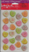 Candy Hearts Epoxy Scrapbook Stickers