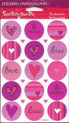 Love Theme Round Scrapbook Stickers
