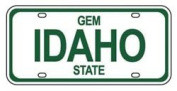 Mini Licence Plate - Idaho