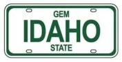 Mini Licence Plate - Idaho