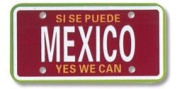 Mexico Mini Licence Plate for Scrapbooking