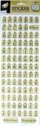 American Traditional Design Alphabet Stickers-Tag Alphabet