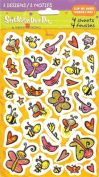 Cartoon Butterfly Bird Bee Bugs Scrapbook Stickers