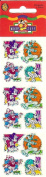 Disney Mickey Mouse Goofy Donald Pluto Sparkle Scrapbook Stickers