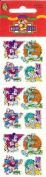 Disney Mickey Mouse Goofy Donald Pluto Sparkle Scrapbook Stickers