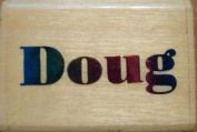 DOUG - Rubber Stamp - Stamp Size 3.2cm x 1cm