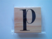 "Michaels Rubber Stamp, ""P"""