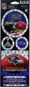 Baltimore Ravens Super Bowl XLVII Prismatic Decal