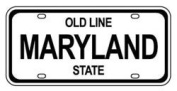 Mini Licence Plate - Maryland
