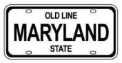 Mini Licence Plate - Maryland