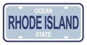 Mini Licence Plate - Rhode Island