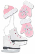 Christmas Paper Bliss Adhesive Embellishments - Skater Girl