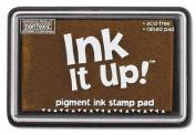 Ink It Up!TM TEDDY BEAR BROWN Pigment Ink Pad - BROWN Pigment Stamp Pad - Ink It Up!TM Pigment Ink Stamp Pads