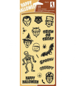 Inkadinkado Clear Seasonal Stamps 10cm by 20cm Sheet, Spooky & Creepy
