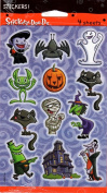 Halloween Cat Bat Costumes Scrapbook Stickers