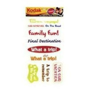 Kodak Photo Memories Travel Phrase Stickers, Self Adhesive Words & Symbols for Travel Photos.